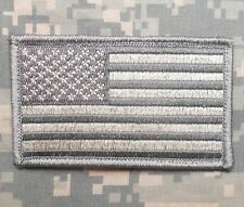 USA FLAG TACTICAL MORALE MILITARY BADGE ACU LIGHT VELCRO® BRAND FASTENER PATCH