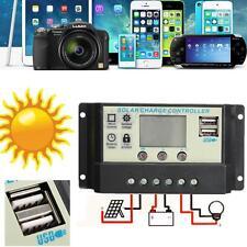 20A USB solare pannello batteria regolatore di carica 12/24V Auto PWM Safe New
