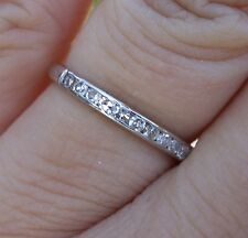 10 single cut diamond 2.3mm antique diamond platinum wedding band ring