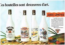 Publicité Advertising 1990 (2 pages) Liqueur Malibu