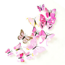 3D DIY Butterfly Wall Sticker Butterfly Home Decor Room Stickers 12Pcs/Set