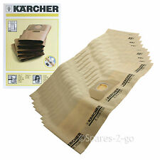 10 x Genuine Karcher Vacuum  Dust Bags WD3.000 WD3.999 Hoover Bag