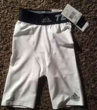 """Adidas TechFit TF Climalite TF  Base 9"""" White Compression Shorts  2XS"""