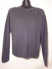 ABERCROMBIE & FITCH Men's V-Neck Sweater 1982 A-92 Muscle A&F Large Gray