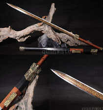 """42"""" 1095 HIGH CARBON STEEL HANDMADE FULL TANG BLADE RED CHINESE SWORD(汉剑)"""