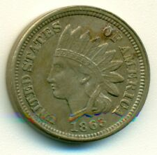 1¢ Indian Head Penny, 1863, Au/Unc, Possibly Better