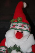 Plush Santa Christmas Home Decoration decor Old World PMS Heavy Door Stopper 12""