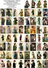 LADIES CLOTHING FASHIONS 1920-1929 - 60 ALL DIFFERENT A6 ART CARDS