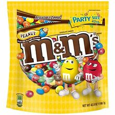 M&M'S Peanut Chocolate Candy Party Size 42-Ounce Bag New