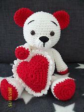 Bär, gehäkelt, Häkeltier, Kuscheltier, Amigurumi, Handarbeit, Bärchen, Teddybär