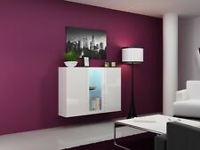 WALL HANGING SIDEBOARD WHITE / WHITE HIGH GLOSS