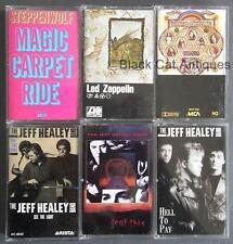 Lot Of Six Music Cassettes STEPPENWOLF JEFF HEALEY LYNYRD SKYNYRD LED ZEPPELIN