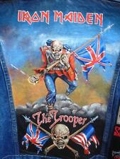 Iron Maiden The Trooper hand painted Levis denim jacket Mens 2XL Scorpions