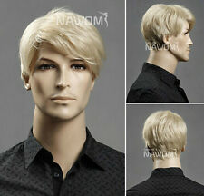 Men's short blonde hair wig wig male European and American popular