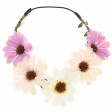 Bride Boho Flower Headband Garland Festival Wedding Floral Crown Hair Band