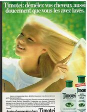 Publicité Advertising 1984 Les Shampooings Timotei