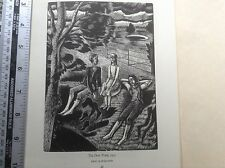 1950s xilografía imprimir el estanque de Rocío por Eric Ravilious