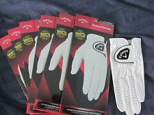 6 WOMENS CALLAWAY DAWN PATROL LEATHER GOLF GLOVES SIZE LARGE  NEW LADYS