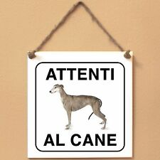 Greyhound 1 Attenti al cane Targa cane cartello ceramic tiles