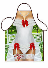 WOMENS SEXY NOVELTY BRIDE TO BE APRON,SEXY AS HEN NIGHT COSTUME, BRIDE TO BE BBQ