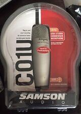 SAMSON AUDIO C01U USB STUDIO CONDENSER MICROPHONE PODCASTING NIB UNUSED.NICE