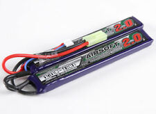 New Turnigy nano-tech 2000mah 2S 15C 25C 7.4V Lipo Battery Airsoft Pack US 2