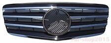 Front Grille Mercedes Benz W211 E-Class 2007-2009 Chrome & Black E63 AMG E350