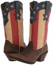 Durango Crush Women's Stars And Stripes Boot Dark Brown Union Flag Size 9 M