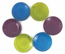 "Crate & Barrel ""Casbah"" Glass Appetizer Plates Set Of 6 NEW"