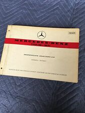 MERCEDES PONTON w121 180 180D 180c SPARE PARTS MANUAL EDITION A