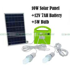 10W Outdoor Solar Panel CFL Light Lamp Battery Charger Home System Kit Camping