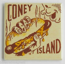 Coney Island Hot Dog FRIDGE MAGNET sign matchbook