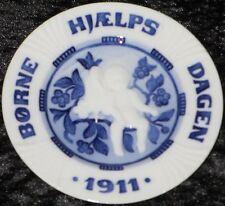 1911 Royal Copenhagen kinderhilfstag/Children 's help Day Bing Grondahl