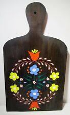 "16"" Handpainted Wooden Padle Cutting Board Dutch Rustic Kitchen Folk Art Decor"