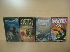 JO CLAYTON - 4 BOOKS - DANCER'S RISE, SERPENT WALTS, MOONSCATTER +