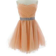 TOPSHOP Women's Peach Above Knee Tulle Ball Gown Dress 35P15Y US Size 8 NEW