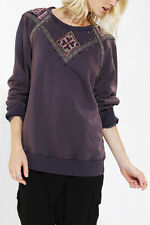 131128 New Ecote Urban Outfitters Studded Sweatshirt Embellished Sweater Top L