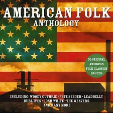 2 CD BOX AMERICAN FOLK ANTHOLOGY GUTHRIE SEEGER LEADBELLY IVES WHITE WEAVERS ETC