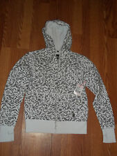 Circa Paisley Womens Reversible Zip Hoodie Size Medium BNWOT