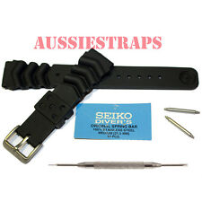 SEIKO Z20 + FAT Springbars + Spring Bar Tool Rubber Divers Watch Band Strap 20mm