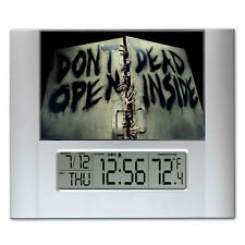 The Walking Dead Don't Open Dead Inside Digital Wall Desk Clock temp alarm