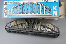 V206 Marklin train Ho Pont métallique en arc 7263 Bogen brücke 36 cm Märklin