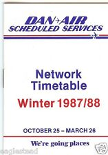 Airline Timetable - Dan-Air - 25/10/87 - Network - S