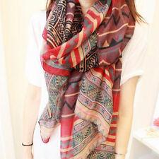 New Women Girl Vintage Long Soft Cotton Voile Print Scarves Shawl Wrap Scarf