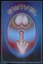 HUMOR POSTER~Swivel Thumb Up The Rear Finger Butt Weird Funny Full Size Print~