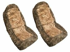 Tan Brown Authentic Sheep Skin Front Seat Covers (Pack of 2) Genuine Sheep HS2