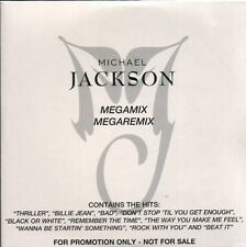 Michael Jackson, Megamix - Megaremix, NEW/MINT Danish promo CD single