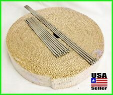 "DOUBLE THICK TAN EXHAUST WRAP 2"" WIDE 100FT ROLL HEADER PIPE STAINLESS TIES KIT"