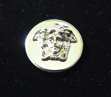"GIANNI VERSACE MEDUSA HEAD GOLD METAL BUTTON Approximately .8"" / 20MM"