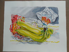 """REDUCED ! Janet Fish """"Bag of Bananas"""" 1996 Hand Signed & Numbered  !!!"""